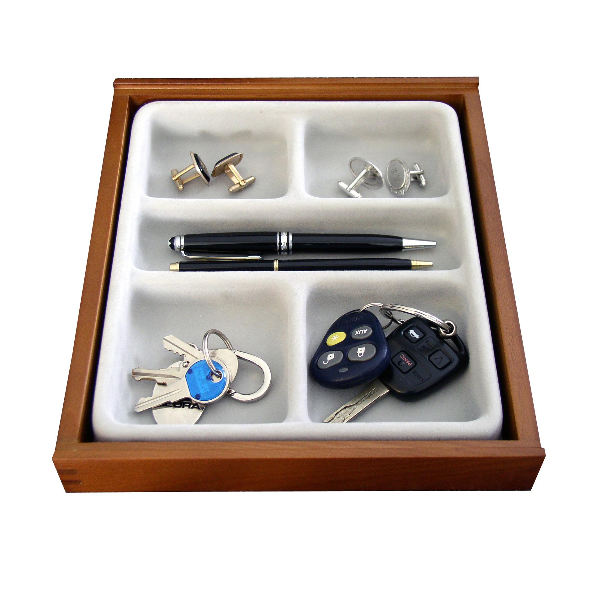 Valet Wood 5-compartment Jewelry Organizer