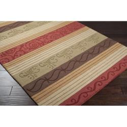 Hand-crafted Ontario Wool Rug (7'6 x 9'6)