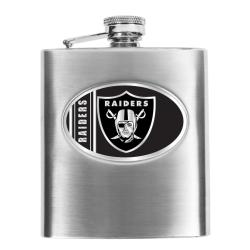 Oakland Raiders 8-oz Stainless Steel Hip Flask - Thumbnail 0