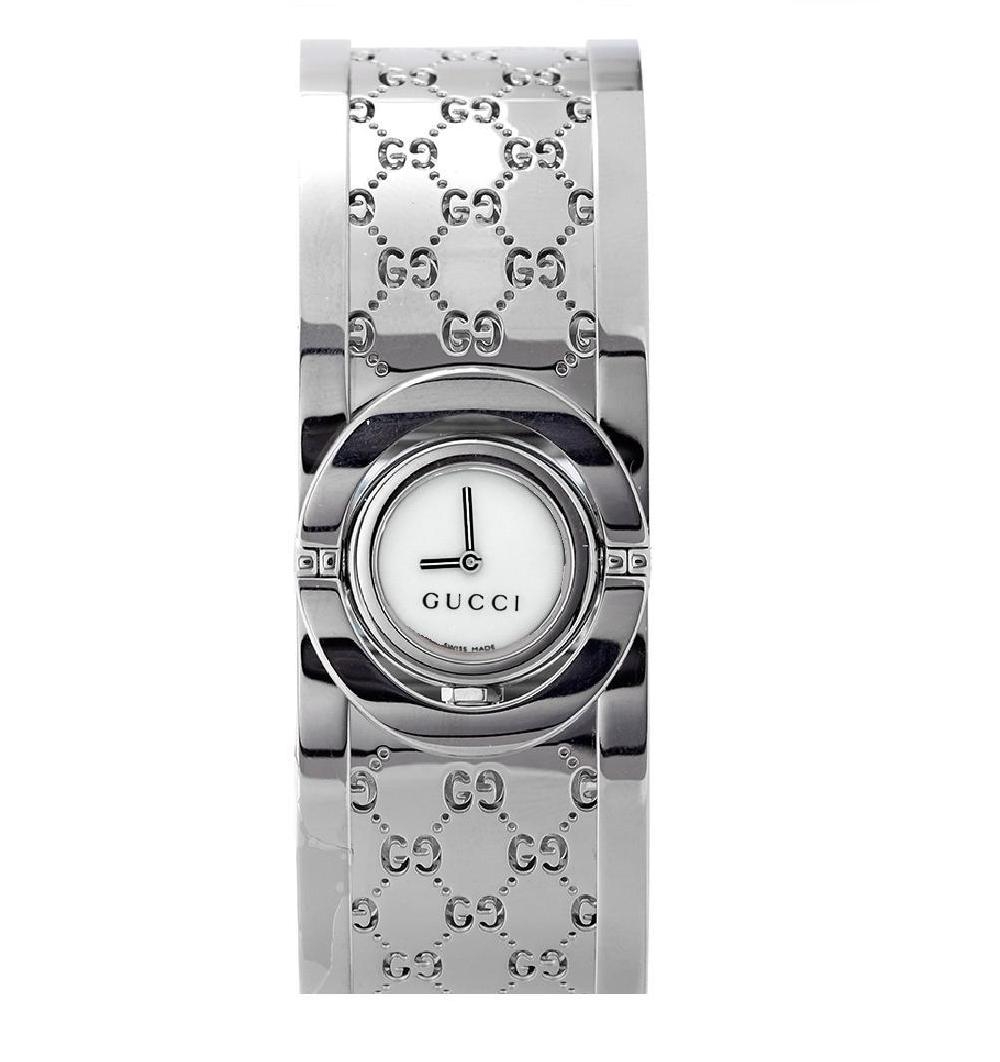 266ebbd6626 Shop Gucci Women s  Twirl  Stainless Steel Watch - Free Shipping Today -  Overstock - 6185440