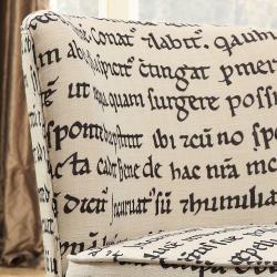 Moda Round Linen Swivel Chair - Thumbnail 1