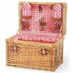 Picnic Time 21532300 Chardonnay Red Check Picnic Basket