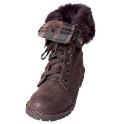 Bearpaw Women's 'Kayla' Suede Sheepskin-lined Lace-up Lug Sole Boots - Thumbnail 2