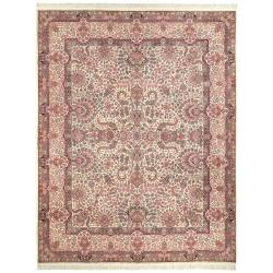 Asian Hand-knotted Royal Kerman Ivory Wool Rug (12' x 15')