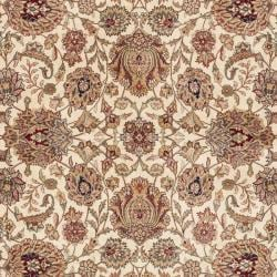 Asian Hand-knotted Royal Kerman Ivory and Red Wool Area Rug (5' x 7') - Thumbnail 2