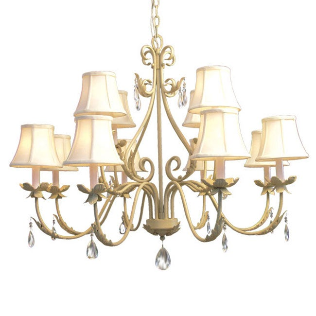 Woodbridge Lighting Alexandria 12-light Washed Gold Chandelier