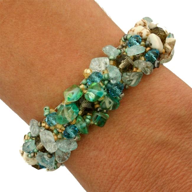 Glass Bead Isabela Surfside Bracelet (Guatemala)