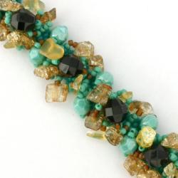 Glass Bead Isabela Persephone Bracelet (Guatemala)