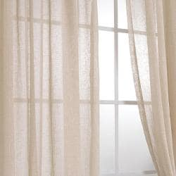Exclusive Fabrics Faux Linen Tumbleweed 108-inch Sheer Curtain Panel