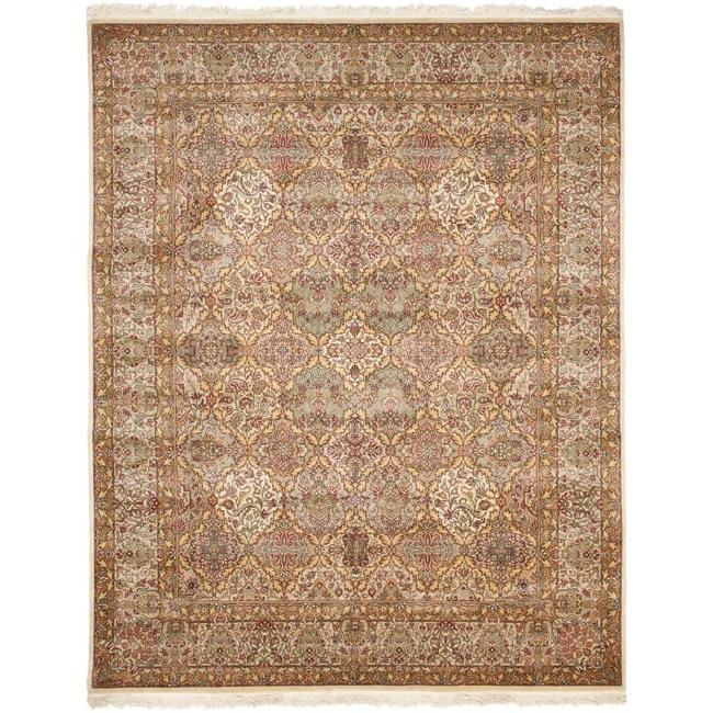 Asian Hand-knotted Royal Kerman Multicolored Wool Rug (6' x 9')