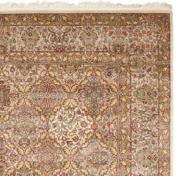 Asian Hand-knotted Royal Kerman Multicolored Wool Rug (6' x 9') - Thumbnail 1