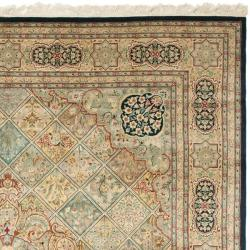 Asian Hand-knotted Royal Kerman Multicolor Wool Rug (9' x 12') - Thumbnail 1