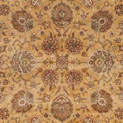 Asian Hand-knotted Royal Kerman Beige and Black Wool Rug (4' x 6') - Thumbnail 2