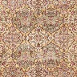 Asian Hand-knotted Royal Kerman Multicolored Wool Rug (6' x 9') - Thumbnail 2