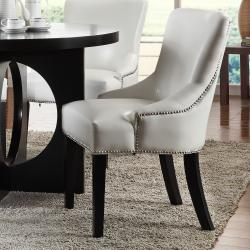Westmont 5-piece White Faux Leather Dining Set - Thumbnail 1