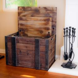 Distressed Wood Trunks (Set of 3) - Thumbnail 1