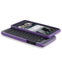 Purple Rubber Coated Case/ Screen Protector for Motorola Droid 3 XT862 - Thumbnail 1