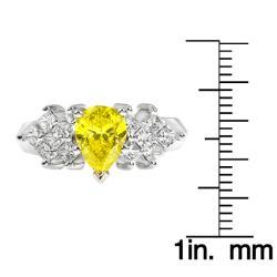 14k White Gold 1 7/8ct TDW Yellow and White Diamond Ring (H-I, SI1-SI2) - Thumbnail 2