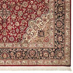 Asian Hand-knotted Royal Kerman Red and Blue Wool Rug (4' x 6') - Thumbnail 1