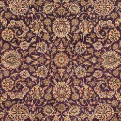 Asian Hand-Knotted Royal Kerman Purple Oriental Wool Rug (9' x 12')