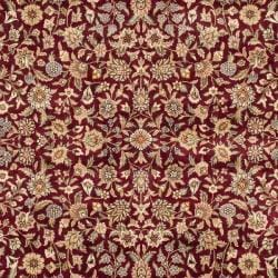 Asian Hand-knotted Royal Kerman Red and Blue Wool Rug (6' x 9') - Thumbnail 2