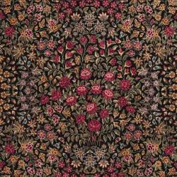 Asian Hand-knotted Royal Kerman Black Wool Rug (4' x 6')