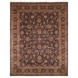 Asian Hand-knotted Royal Kerman Purple Wool Rug (9' x 12')