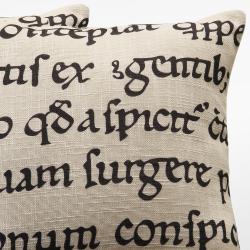 Linen 18-inch Linen Latin Script Throw Pillows (Set of 2) - Thumbnail 2
