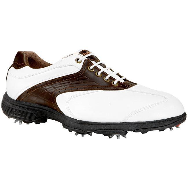 Etonic Men's Sof-Tech White/ Dark Brown Dress Golf Shoes