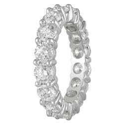 Miadora 18k White Gold 4ct TDW Diamond Eternity Ring (G-H, I1-I2) - Thumbnail 1