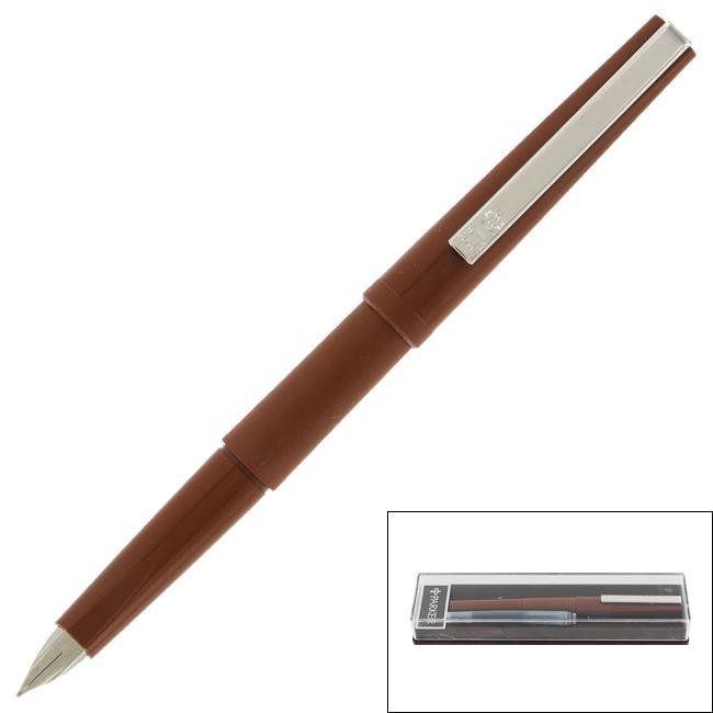Parker Club Vintage Brown Barrel Black Ink Fountain Pen