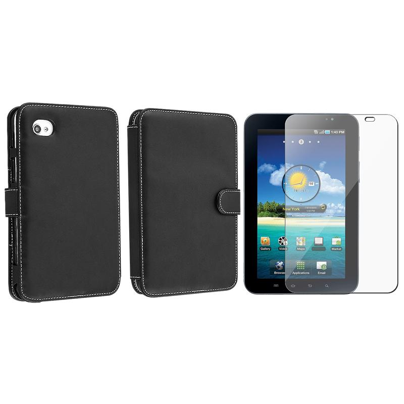 Leather Case/ Screen Protector for Samsung Galaxy Tab P1000
