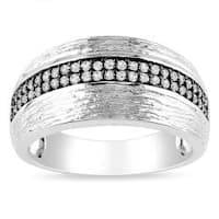 Miadora Sterling Silver 1/4ct TDW White Diamond Ring