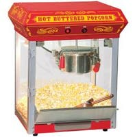 FunTime Carnival Style Red 4-oz Hot Oil Popcorn Machine