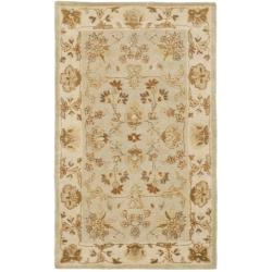 Safavieh Handmade Farahan Grey Blue/ Ivory Hand-spun Wool Rug (4' x 6')