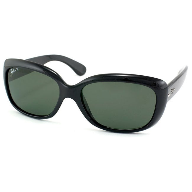 Ray Ban Women's 'Jackie Ohh' Black Polarized Sunglasses - Thumbnail 0