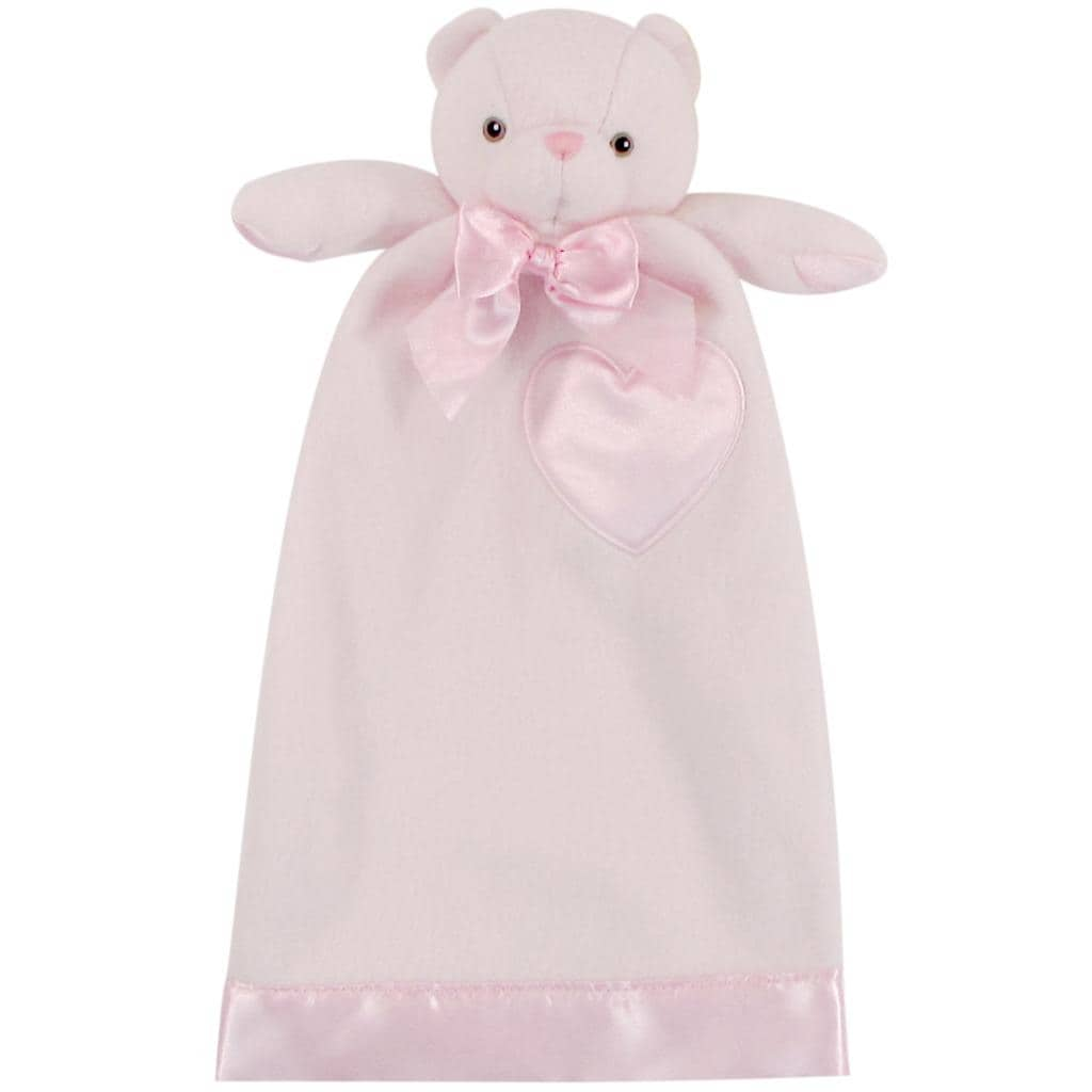 Lovie Baby Pink 'Bernhardt Bear' Security Blanket