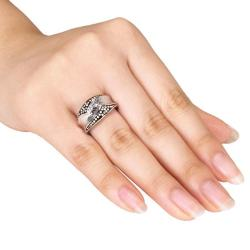 Miadora Sterling Silver 1/4ct TDW White Diamond  Ring (G-H, I3)