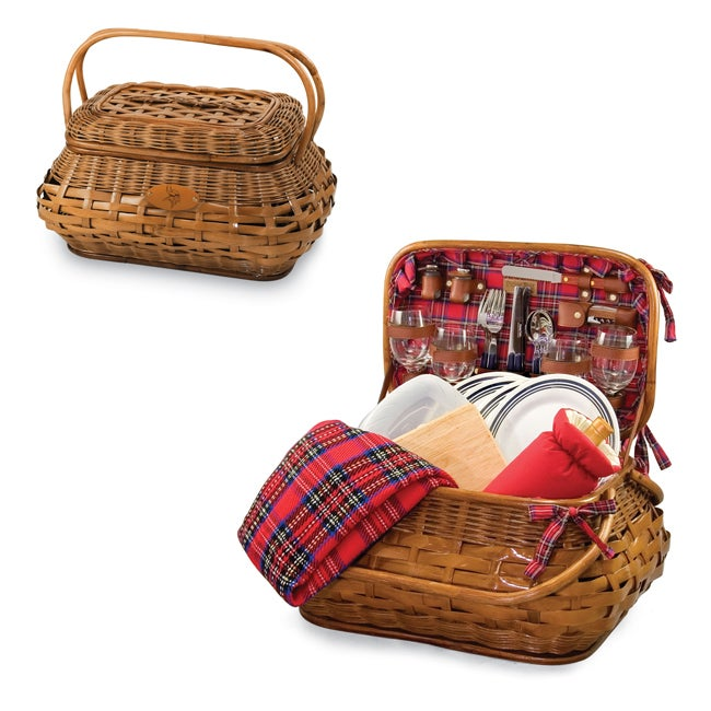 Picnic Time Minnesota Vikings Red Tartan Picnic Set