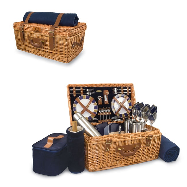 Picnic Time Navy Chicago Bears Windsor Picnic Basket