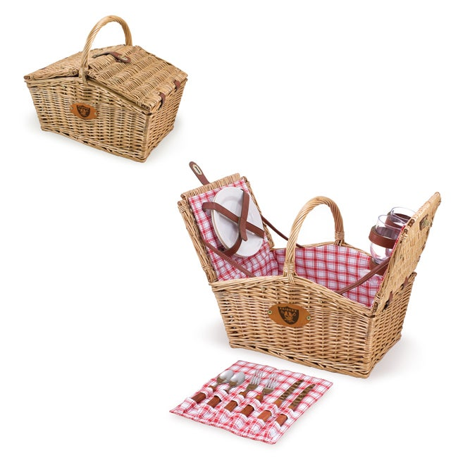 Picnic Time Oakland Raiders Piccadilly Picnic Basket
