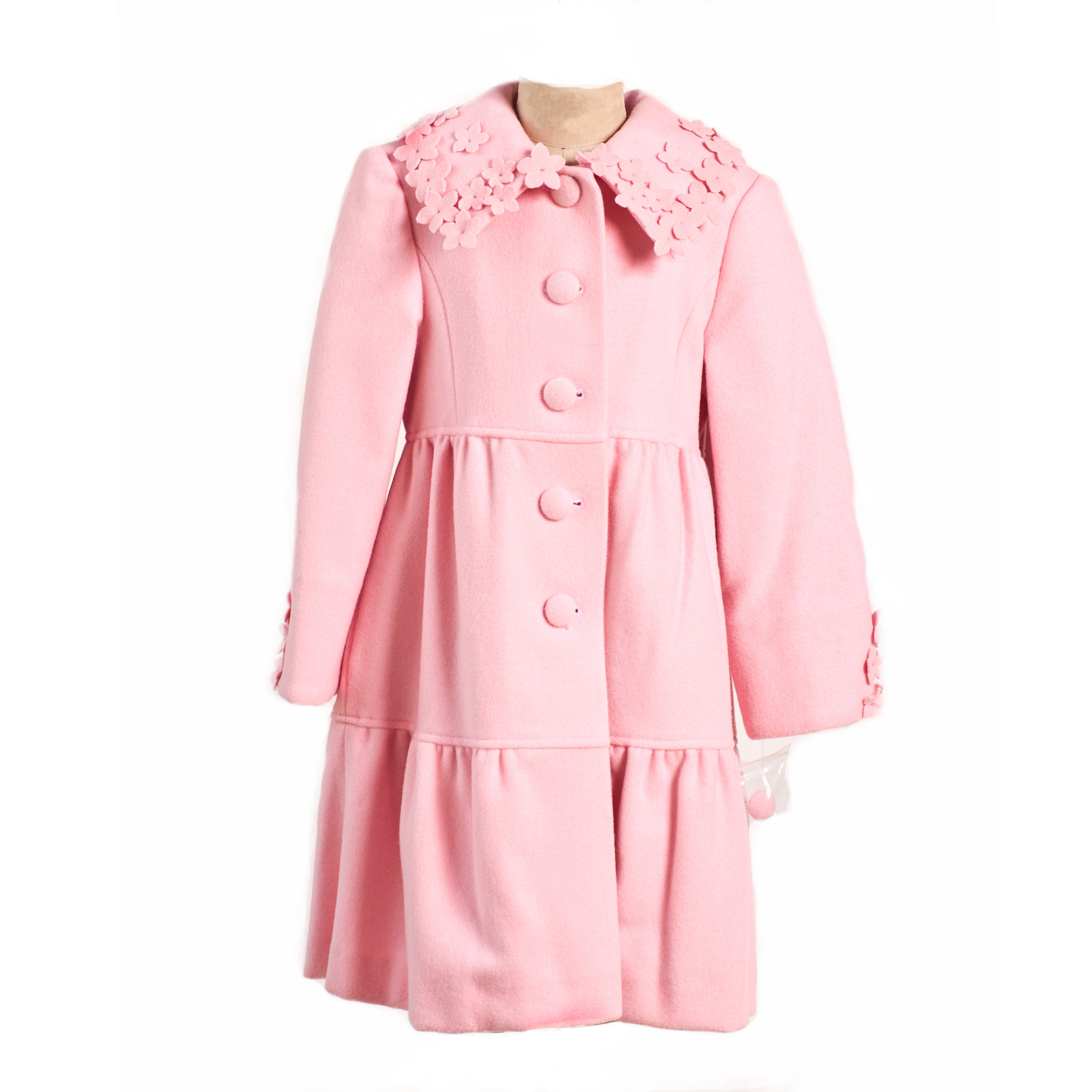 Trilogi Collection Girls Pink Wool Blend Coat