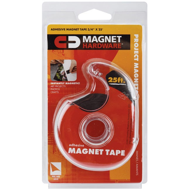 25-foot Roll of Adhesive Magnet Tape with Clear-colored Dispenser
