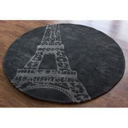 Nuloom Handmade Deco Kids Eiffel Tower Rug 6 Round