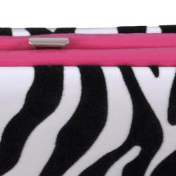 Adi Designs Women's Flocked Zebra Print Wallet
