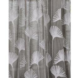 Exclusive Fabrics Ginko Leaf Slate Crewel Embroidered Faux Linen Curtain Panel 96-inch - Thumbnail 2