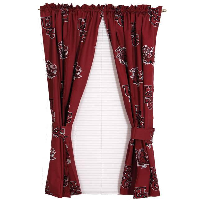 South Carolina University Gamecocks 63-inch Curtain Panel Pair