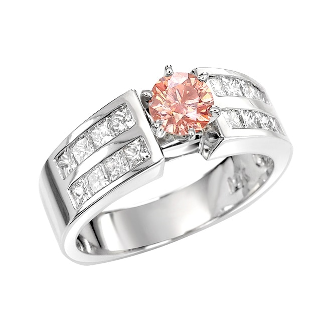 14k White Gold 1 1/2ct TDW Pink and White Diamond Ring (G, SI2)