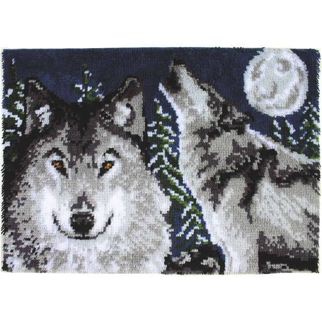 Shop Wonderart 'Midnight Wolves' Latch Hook Kit