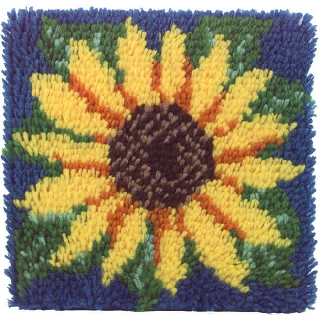 Caron Wonderart Sunflower Latch Hook Kit (12 x 12)